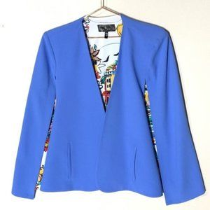 SETRE Structured Cape in Periwinkle Sz. M